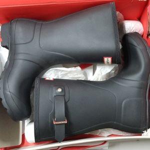 Hunter Women Original Short Boots Black Size 6